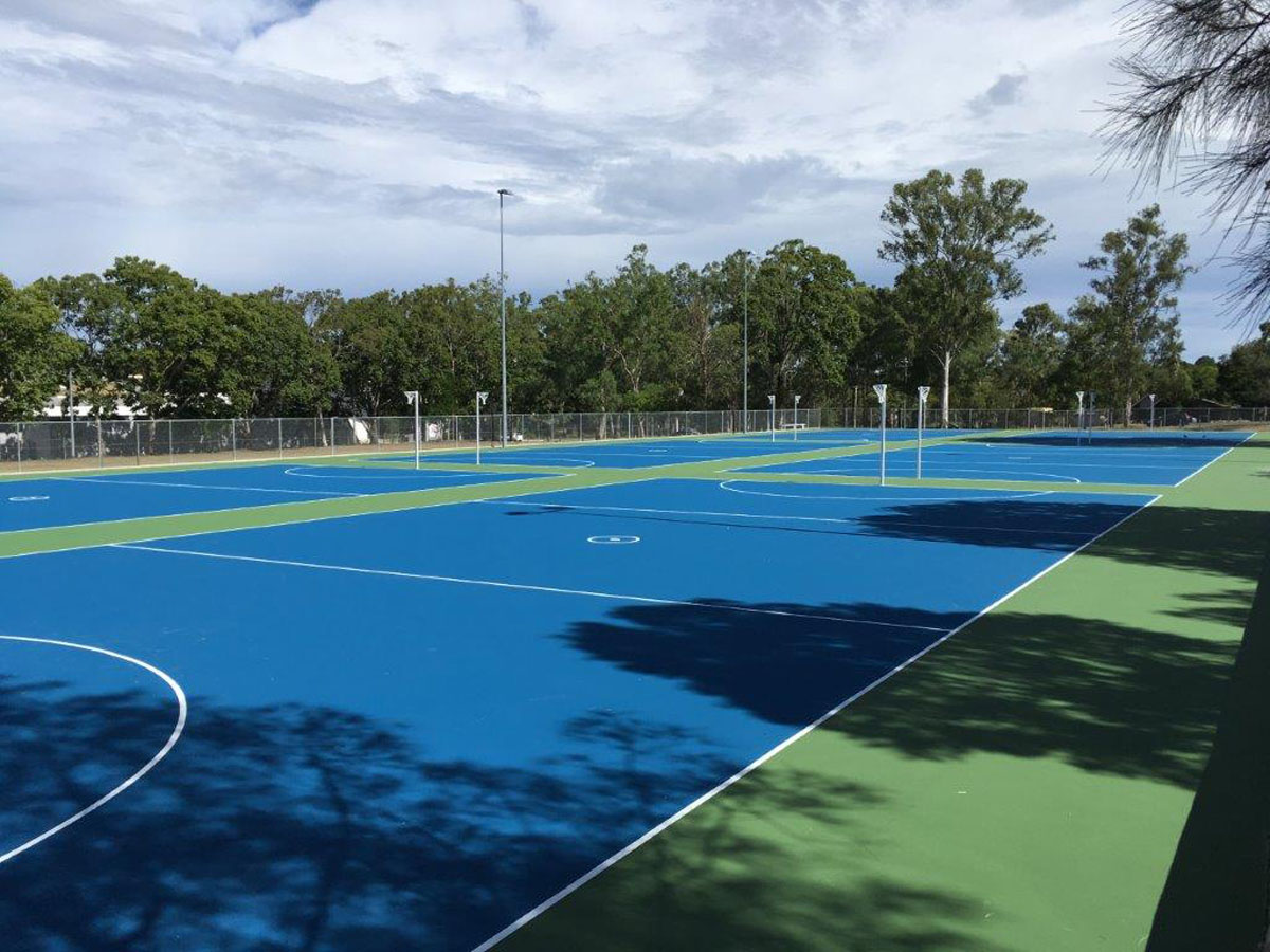 Netball Courts Macgregor Netball Qld Dynamic Sports