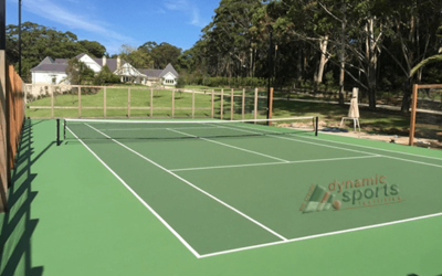 A new cushioned court – anyone for tennis?