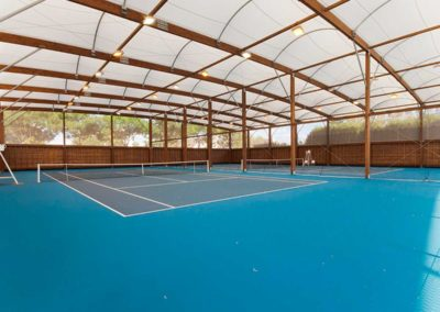 Covered tennis courts