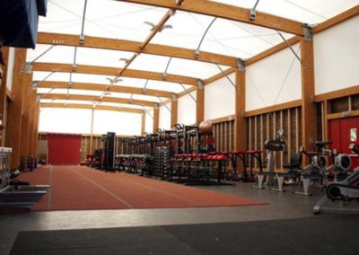 Covered gym