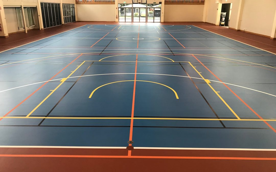 Restoration Of An Indoor Multi Sport Court Dynamic Sports Facilities Australia