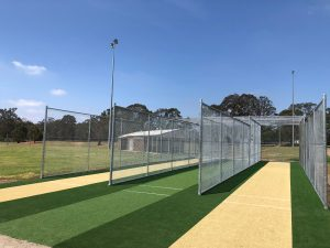 The new nets ready for players.