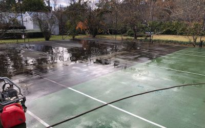 Court maintenance and cleaning