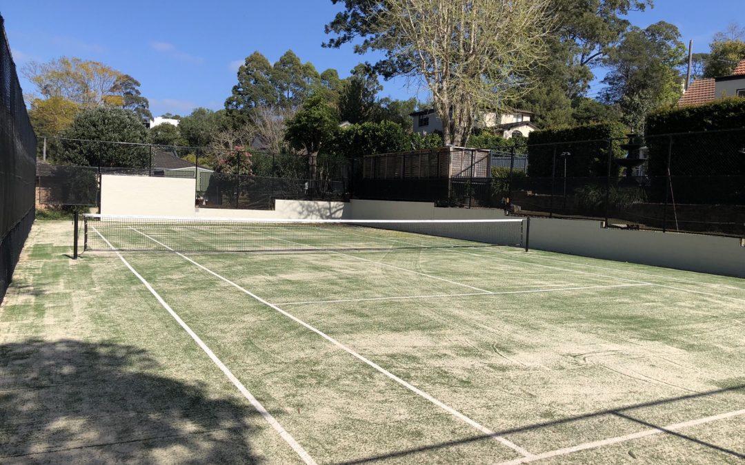 Residential tennis court restoration