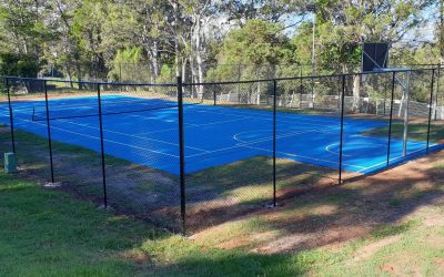 A multisport court for Queensland's Lamb Island
