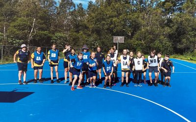 DSF lends a helping hand – netball court resurfaced in Kangaroo Valley